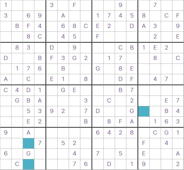 16x16 Giant Sudoku puzzle