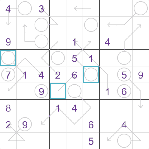 Arrow Sudoku puzzle