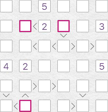 Futoshiki puzzle