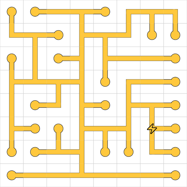 Network puzzle solution