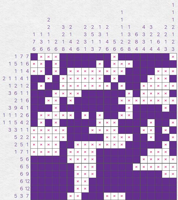 Nonograms puzzle solution