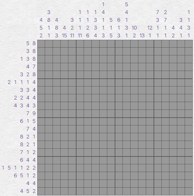 Nonograms puzzle