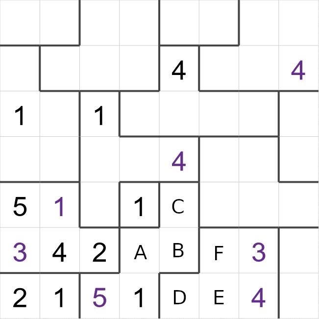 Suguru puzzle